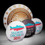 Bradley Smoker Department of Smoked Salmon Button Badges