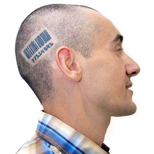 Barcodes qr codes crazy tattoos internet marketing for Tattoos on side of head