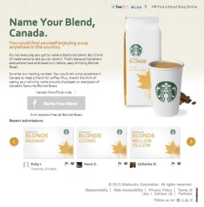 starbucks blonde roast contest